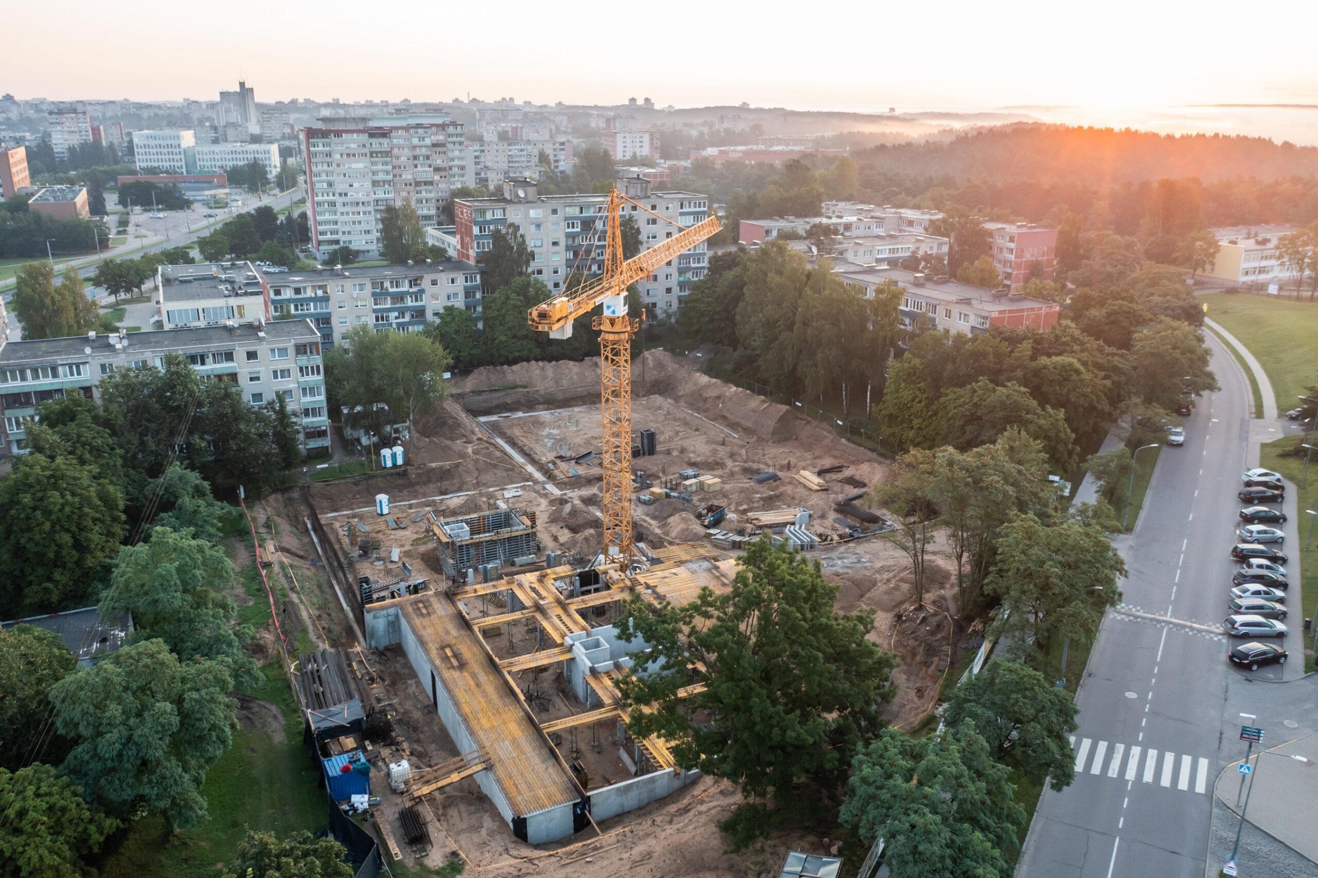 Statybos darbai - 2021 08 16